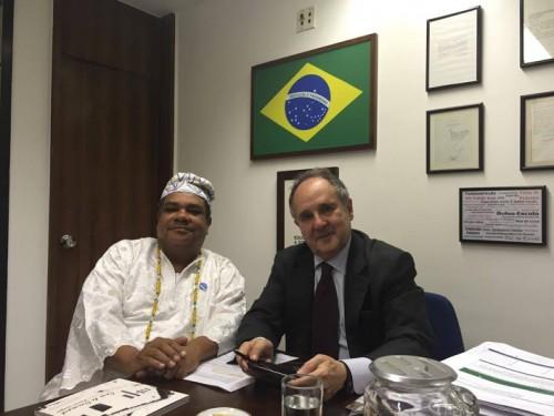 Baba Pece no Gabinete  do Senador Cristovam Buarque