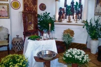 Casamento realizado na Casa de Oxumarê