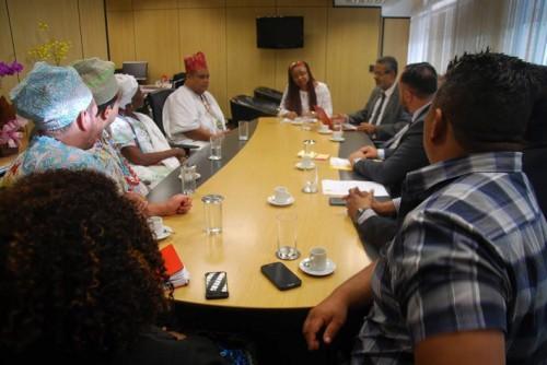 Baba Pece no Gabinete da  Ministra do Estado Nilma Lino