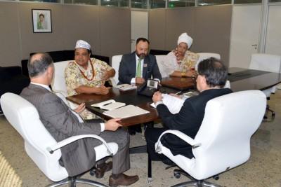 Baba reunido com grupo de trabalho Jurídico da Casa de Oxumarê